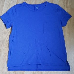 Royal blue Old Navy burnout tee with pocket